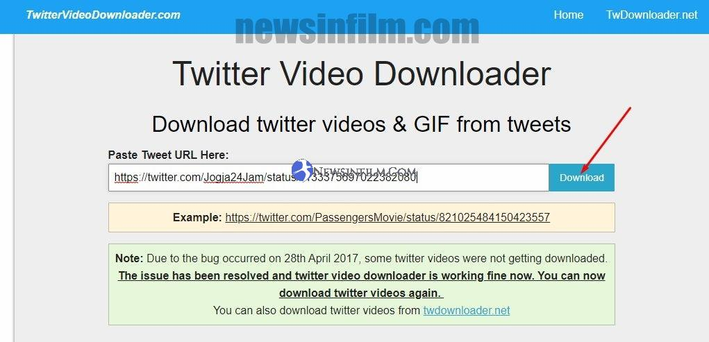 cara download video di twitter 2019