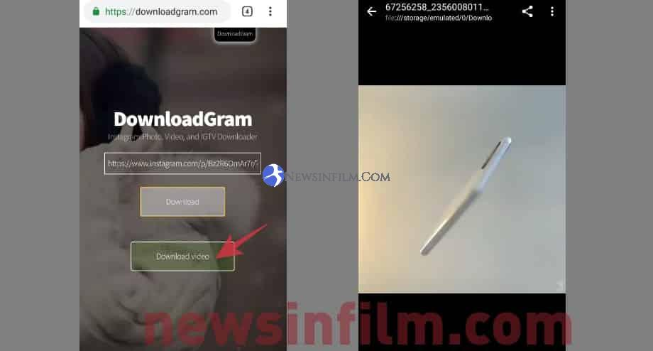 cara download video instagram melalui web