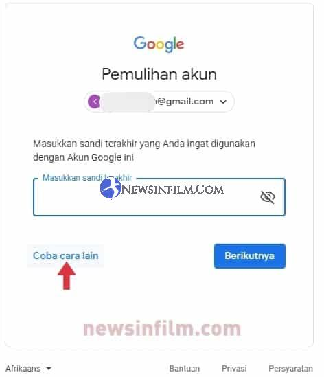 lupa password gmail sendiri di android