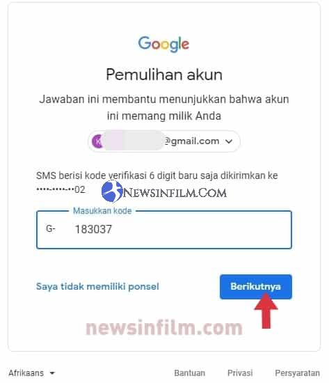 lupa password gmail di komputer