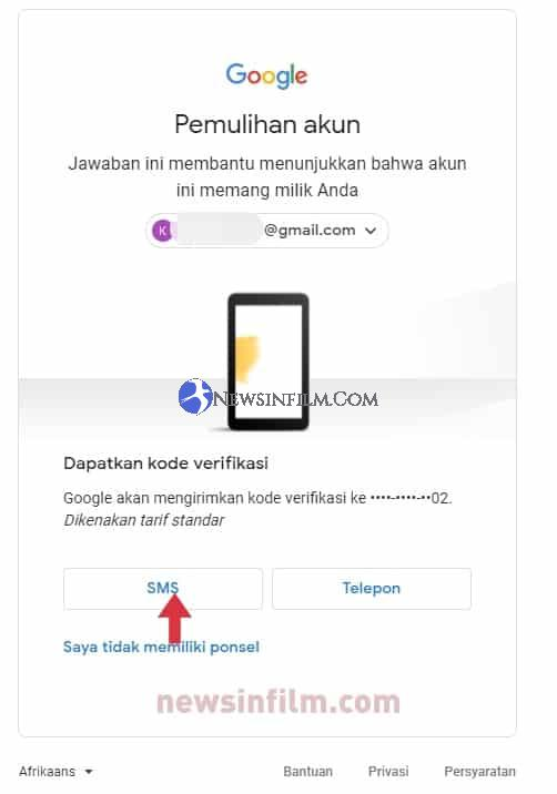 lupa password gmail google