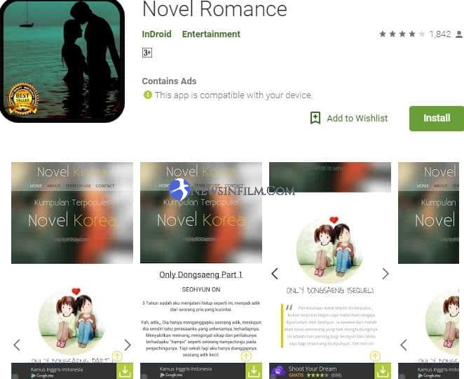 aplikasi novel romantis korea