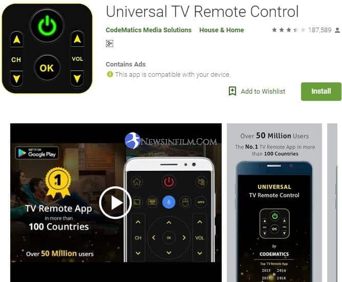 aplikasi remote tv tanpa infrared