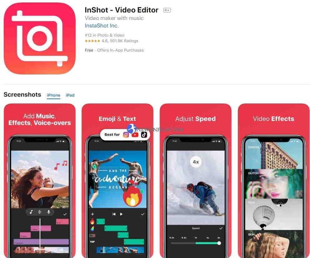 InShot vloger video editor