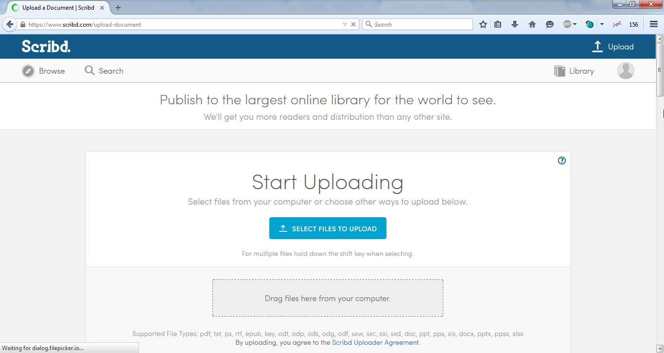 Upload-file-scribd